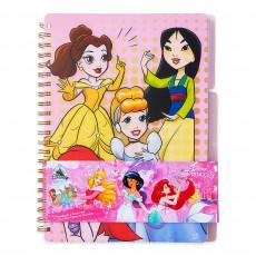 Набор: блокнот для записей и папка Принцессы Диснея