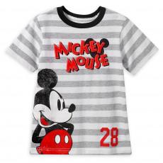 Міккі Маус - футболка в полоску для хлопчиків