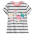 Микки и Минни Маус - футболка с блестящим мороженым для девочек