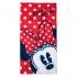 Пляжное полотенце Минни Маус красное